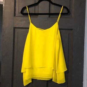 Yellow top with crisscross back feature